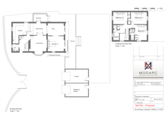 Extension and remodel of existing property - plans