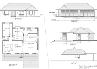 Extension to an existing bungalow - plans