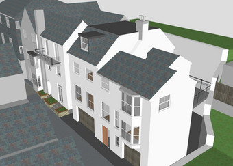 Two new townhouses – 3D model